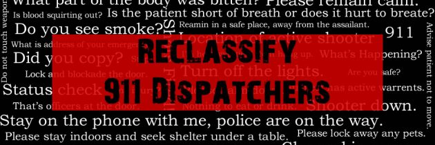 Take Action – 911 Dispatcher Reclassification